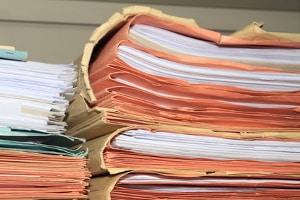 Bewerbungsunterlagen, die zur Vorlage beim künftigen Arbeitgeber eingereicht werden, sollten nicht so umfangreich sein.