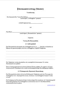 Ehrenamtsvertrag Für Freiwillige Helfer Arbeitsrecht 2019