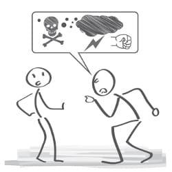 Die Herabsetzung von Kollegen kann dazu führen, dass eine Krankheit entsteht. Mobbing ist kein Spaß.