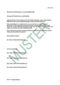 Kurzarbeit Alle Voraussetzungen Arbeitsrecht 2019