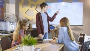 interaktives whiteboard zum lernen