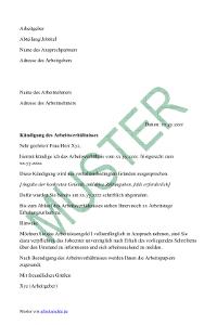 Verhaltensbedingte Kündigung Arbeitsrecht 2019