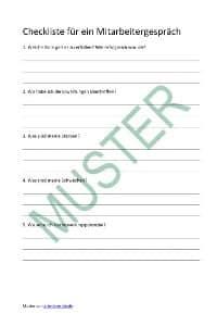Mitarbeitergespräch-Checkliste