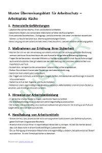 Muster einer Unterweisung zum Arbeitsschutz
